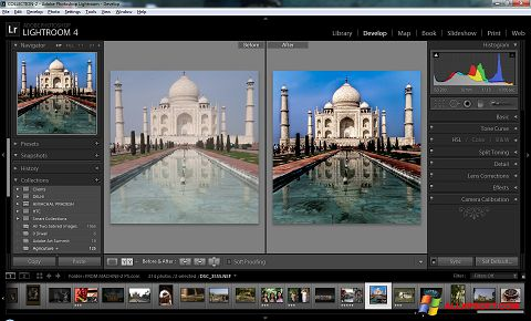 Petikan skrin Adobe Photoshop Lightroom untuk Windows XP