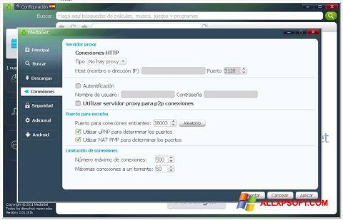 Petikan skrin MediaGet untuk Windows XP