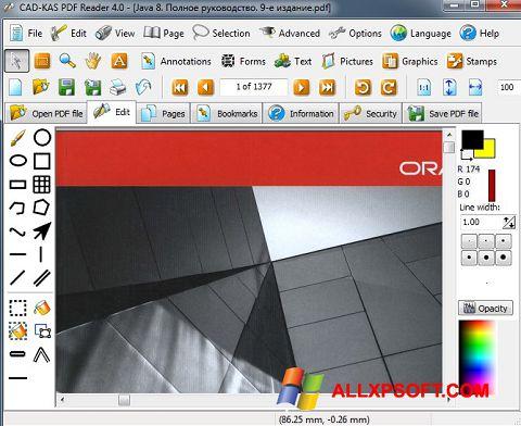 Petikan skrin PDF Reader untuk Windows XP