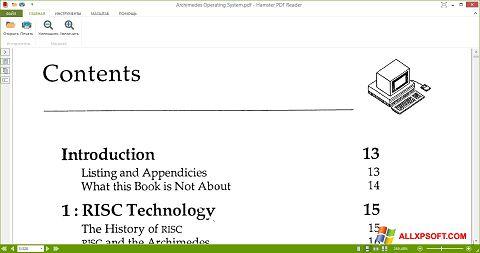 Petikan skrin Hamster PDF Reader untuk Windows XP