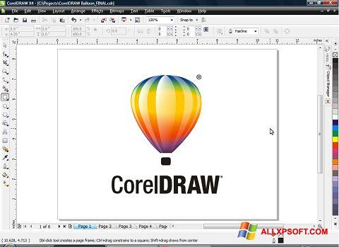Petikan skrin CorelDRAW untuk Windows XP