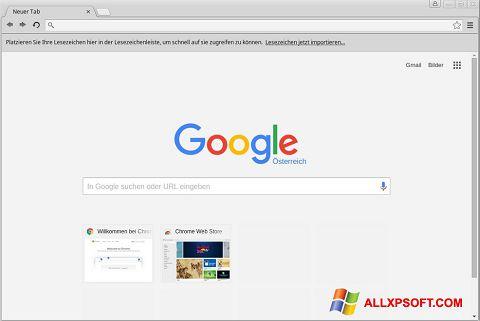 Petikan skrin Google Chrome untuk Windows XP