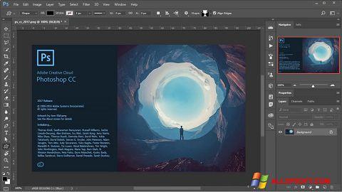 Petikan skrin Adobe Photoshop untuk Windows XP