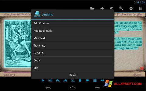 Petikan skrin AlReader untuk Windows XP