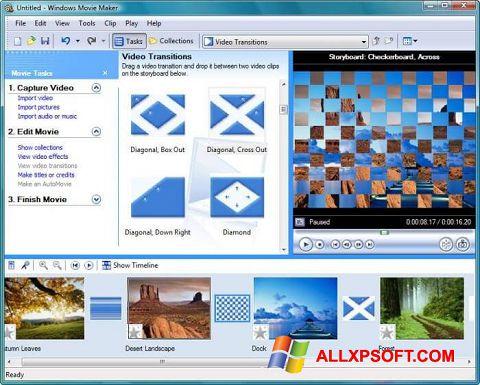 Petikan skrin Windows Movie Maker untuk Windows XP