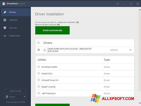 Petikan skrin DriverPack Solution untuk Windows XP