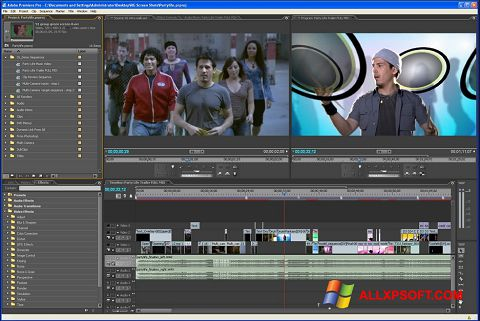 Petikan skrin Adobe Premiere Pro untuk Windows XP