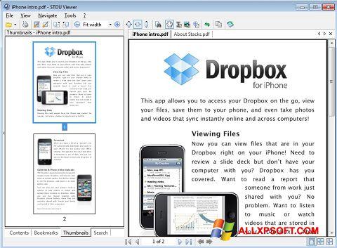 Petikan skrin STDU Viewer untuk Windows XP