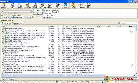 Petikan skrin eMule untuk Windows XP