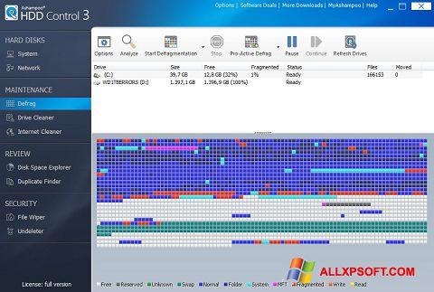 Petikan skrin Ashampoo HDD Control untuk Windows XP