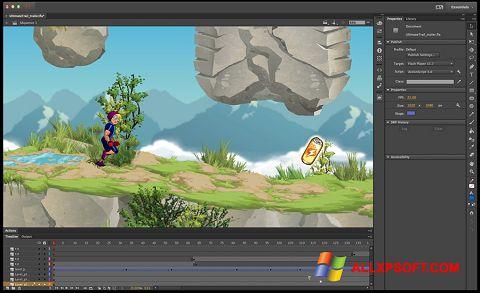 Petikan skrin Adobe Flash Professional untuk Windows XP