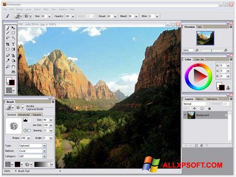 Petikan skrin Artweaver untuk Windows XP