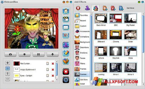 Petikan skrin WebcamMax untuk Windows XP