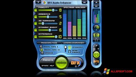 Petikan skrin DFX Audio Enhancer untuk Windows XP