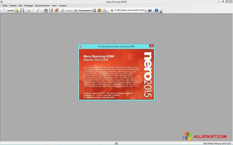 Petikan skrin Nero untuk Windows XP
