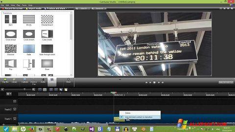 Petikan skrin Camtasia Studio untuk Windows XP