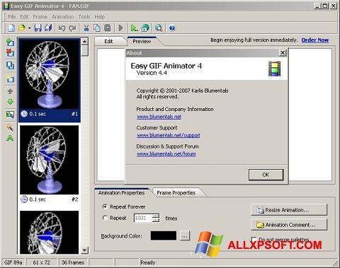 Petikan skrin Easy GIF Animator untuk Windows XP